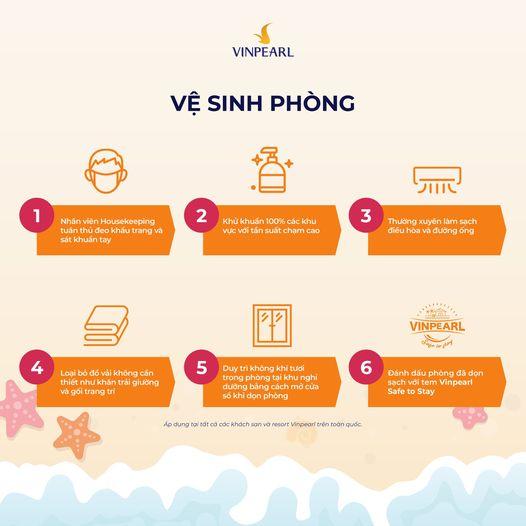 """Vinpearl công bố bộ tiêu chuẩn vệ sinh đảm bảo """"Vinpearl Safe to Stay"""""""