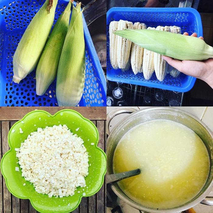 Cách nấu chè bắp