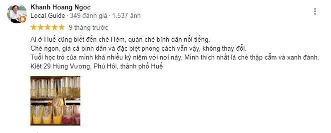 Chè hẻm Huế