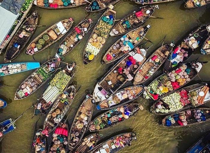 chợ nổi Phong Điền