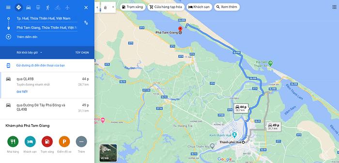 Phá Tam Giang ở đâu